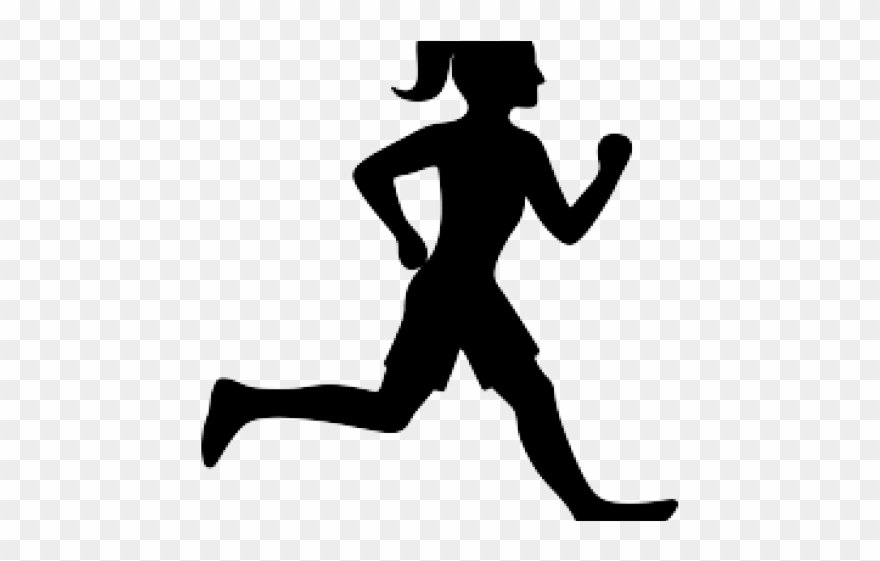 Silhouette of runner clipart png black and white download People Silhouette Clipart Runner - Png Download (#2983397 ... png black and white download