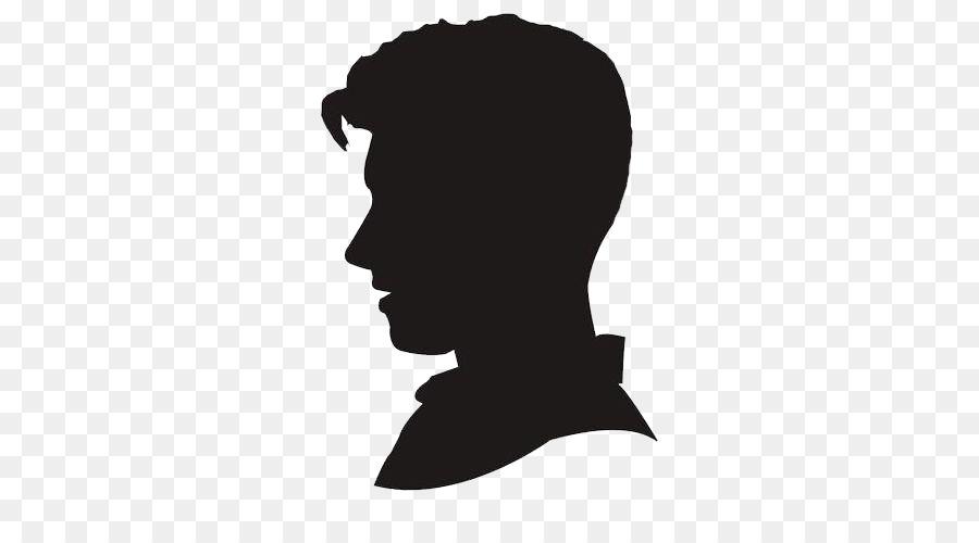 Silhouette portrait clipart