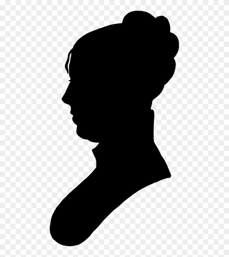 Silhouette portrait clipart jpg library stock Face Silhouette Woman Black - Victorian Silhouette Portrait ... jpg library stock