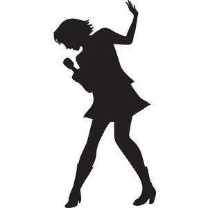Silhouette singer clipart clip freeuse library Free Singer Silhouette Cliparts, Download Free Clip Art ... clip freeuse library