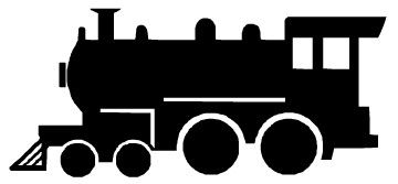 Silhouette train clipart black and white jpg transparent library Pin by Susan Hamilton on Ellie\'s 3rd Birthday (Train Park ... jpg transparent library