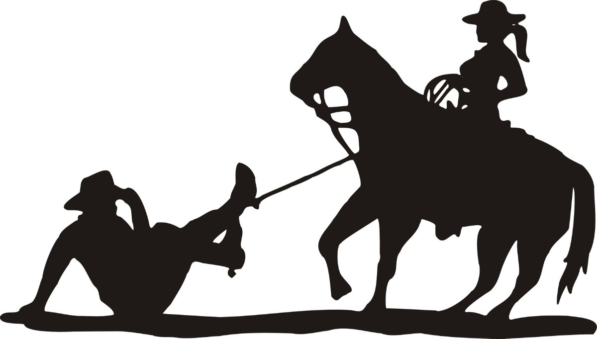 Silhouette western clipart clip black and white Free Silhouette Cowboy, Download Free Clip Art, Free Clip ... clip black and white
