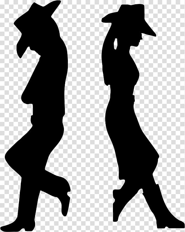 Silhouette western clipart banner freeuse stock Man and woman silhouette, Cowboy Silhouette Western , cowboy ... banner freeuse stock