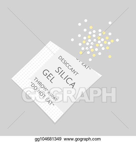 Silica gel clipart graphic royalty free Vector Illustration - Packet with rolled out silica gel. EPS ... graphic royalty free