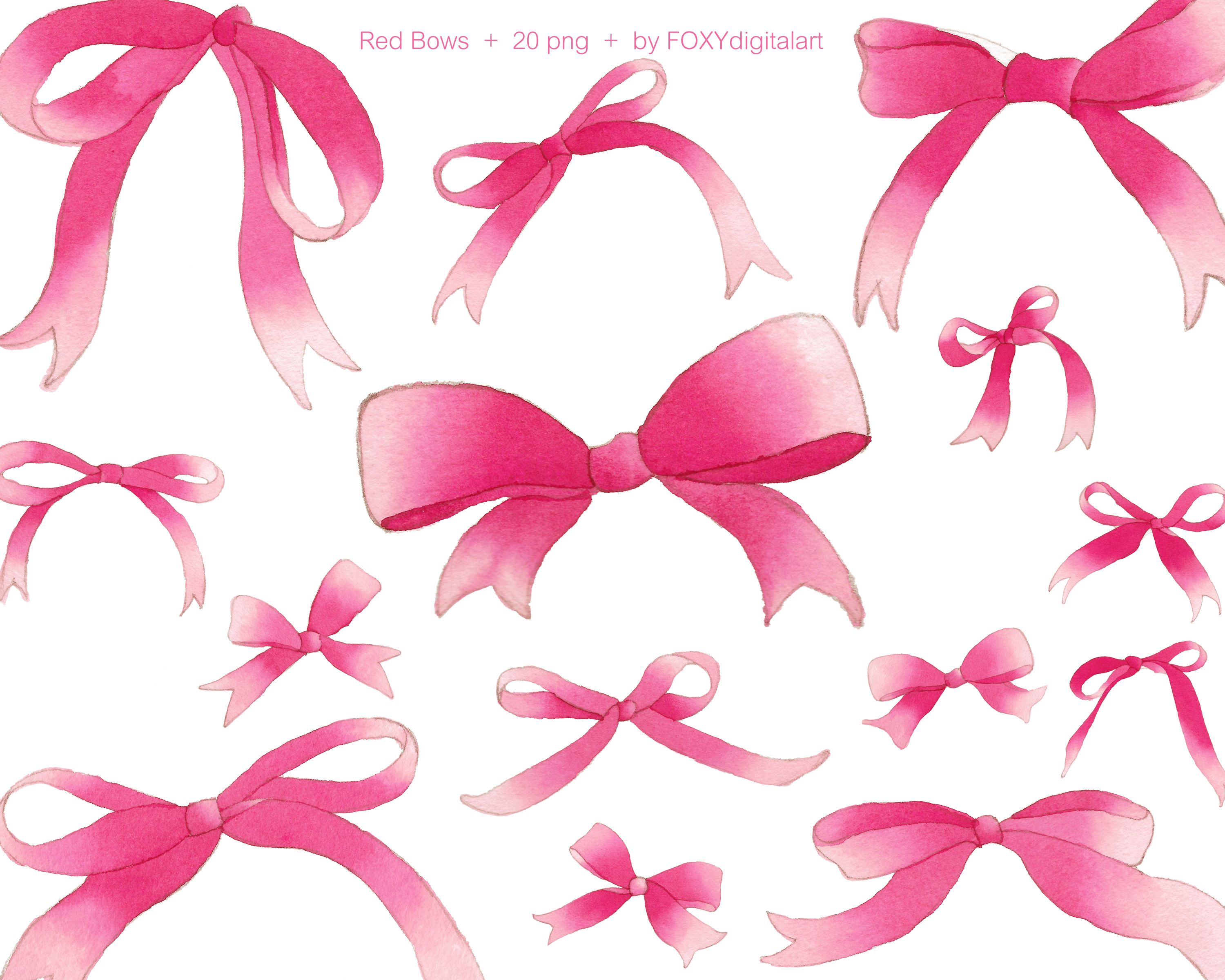 Silk bow clipart graphic freeuse Red ribbon clipart, red bow clip art, watercolor ribbon ... graphic freeuse