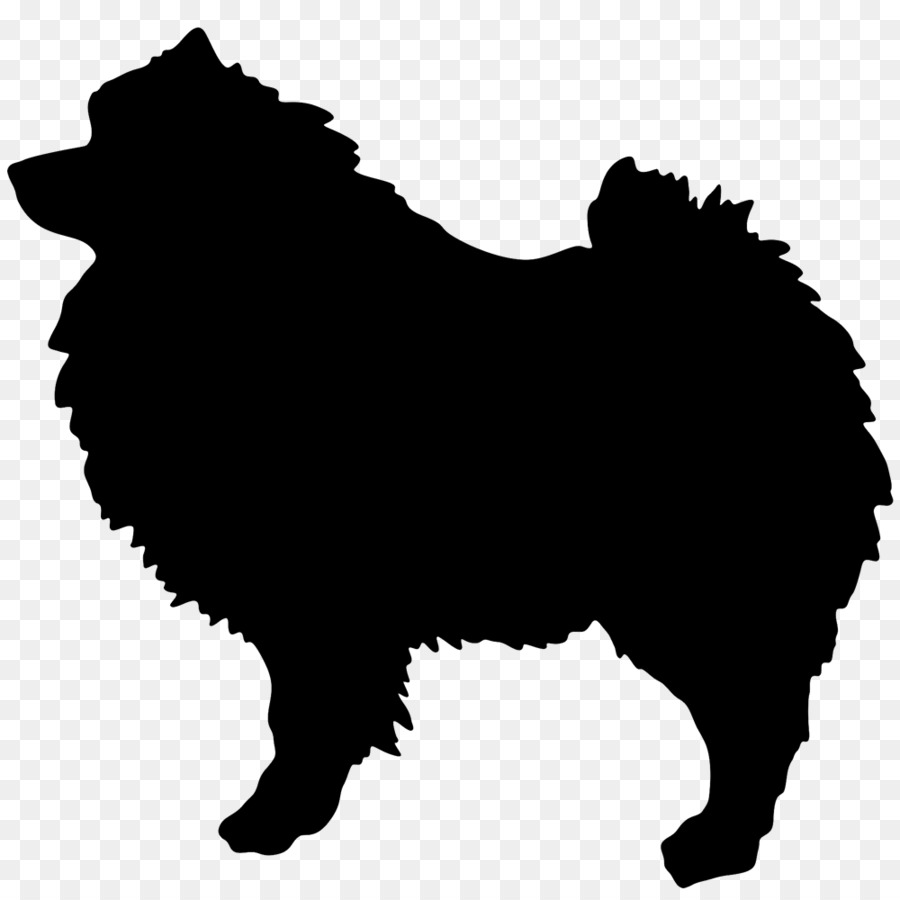 Silkie clipart picture black and white stock Pomeranian Background png download - 1000*1000 - Free ... picture black and white stock
