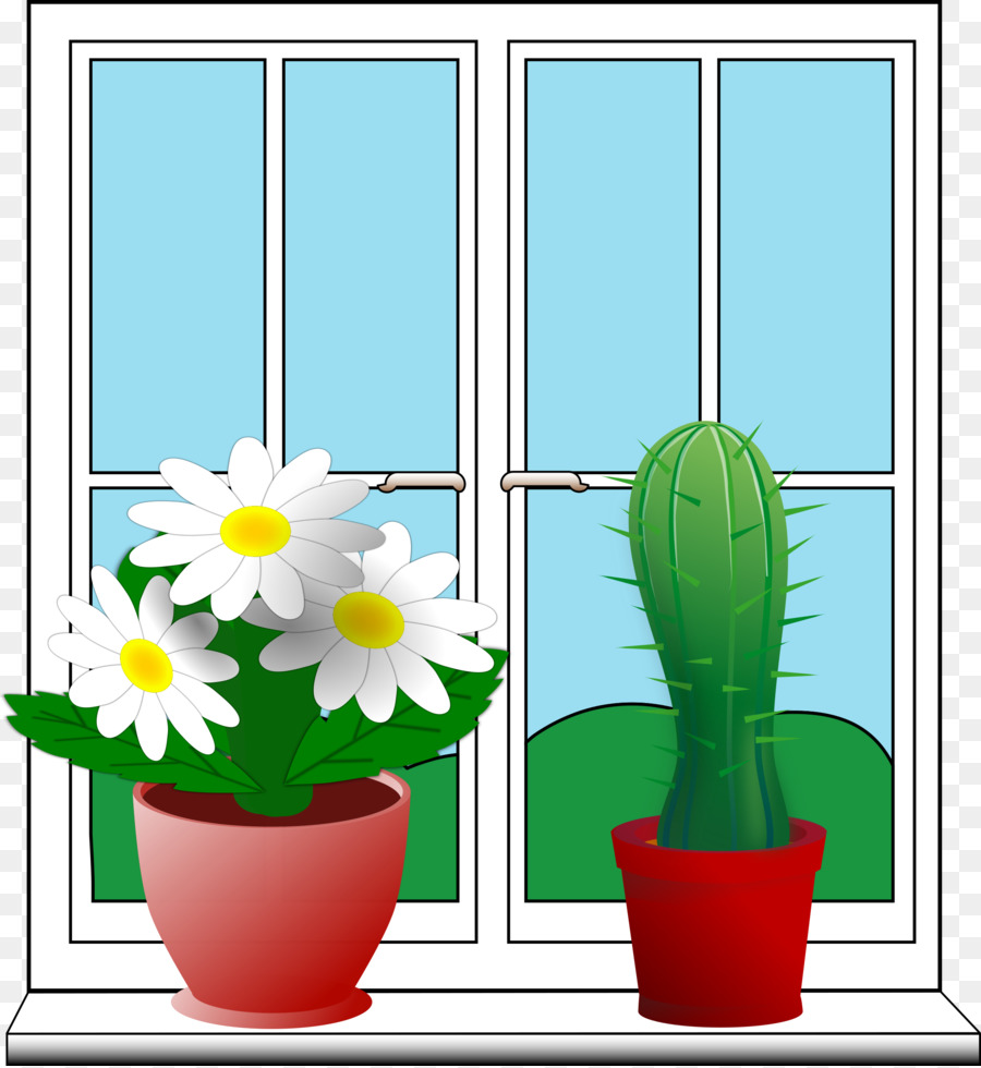 Sill clipart clip art freeuse library Green Flower clipart - Window, Flower, Cactus, transparent ... clip art freeuse library