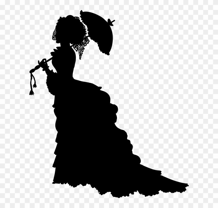 Sillhouette clipart line art clipart library download Silhouette Victorian Era Drawing Line Art - Victorian Lady ... clipart library download