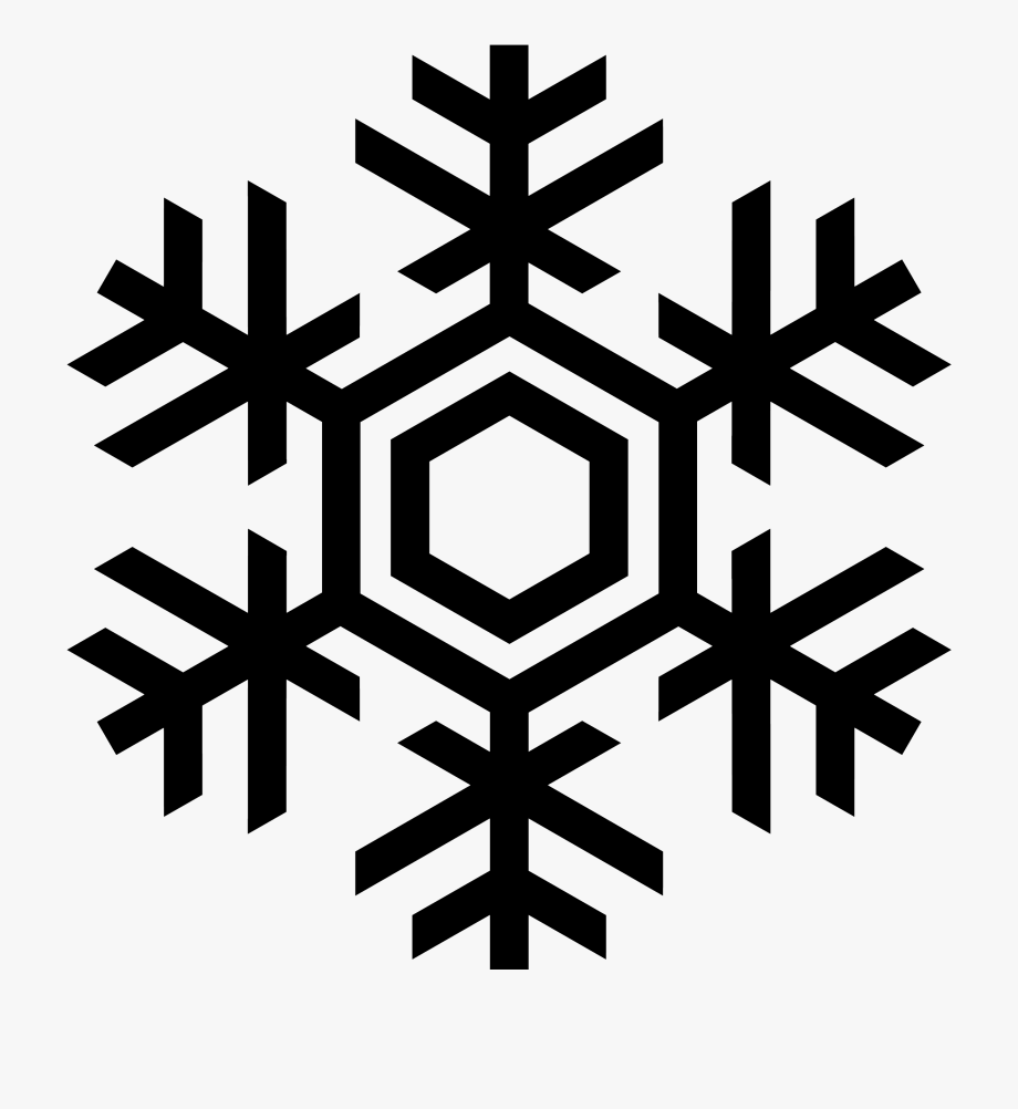Snowflake silouette clipart jpg royalty free library Snowflakes Clipart Silhouette - Black Snowflake Png ... jpg royalty free library