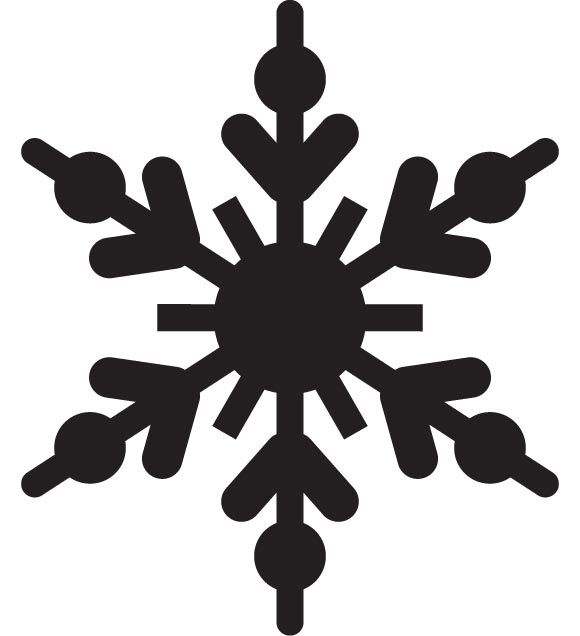 Snowflake silouette clipart clipart library SNOWFLAKES VECTOR | PHOTOSHOP | Snowflake silhouette ... clipart library