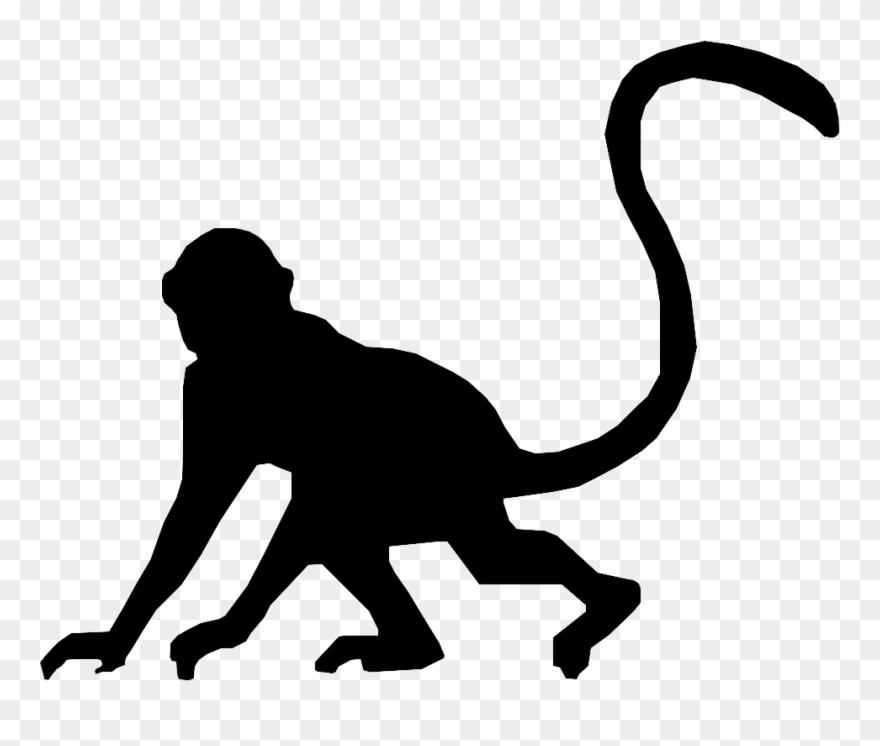 Sillouttes clipart jpg black and white Monkey Silhouette By Metalporsiempre Shadow Theatre ... jpg black and white