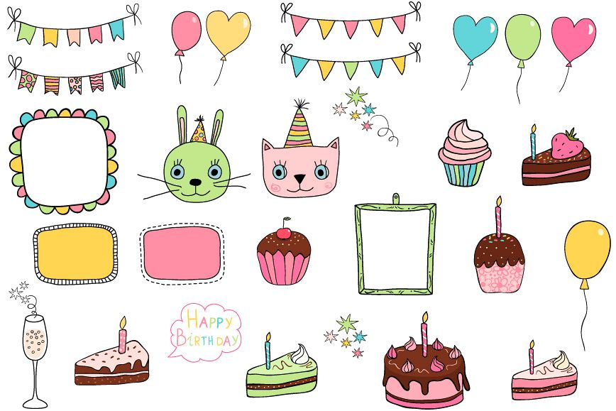 Silly birthday clipart svg Cute birthday clipart, Party design elements svg