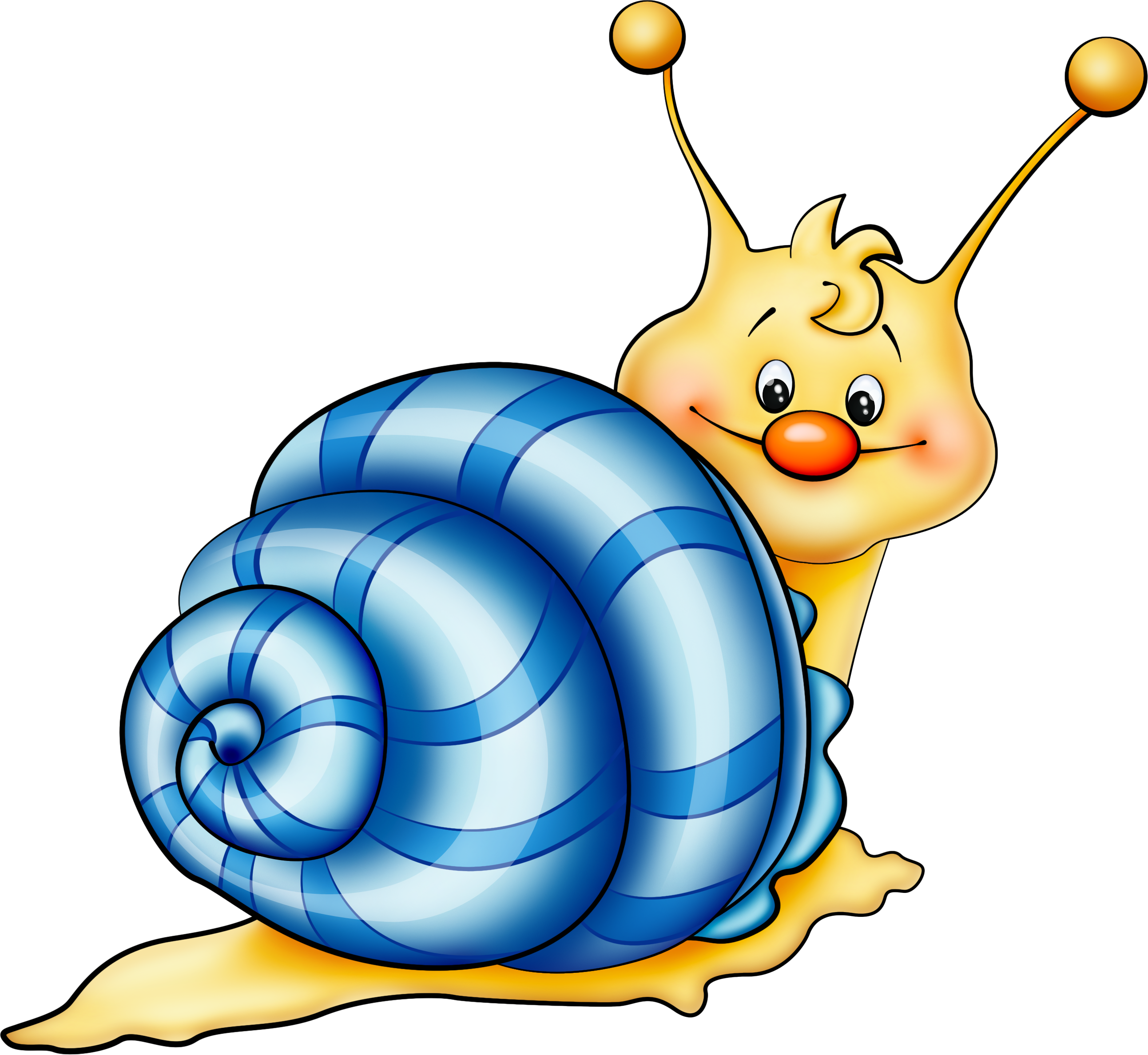 Silly blue fish clipart clipart transparent Blue Snail Cartoon PNG Picture | Obrázky | Pinterest | Snail ... clipart transparent