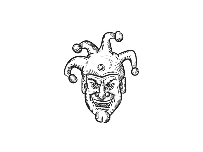 Silly court jester clipart svg royalty free Crazy Medieval Court Jester Drawing by Aloysius Patrimonio ... svg royalty free