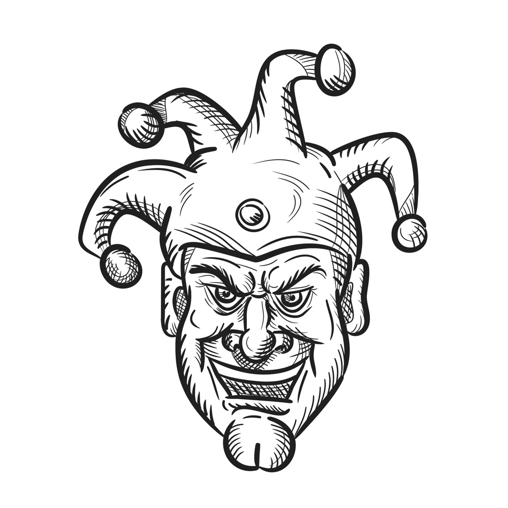 Silly court jester clipart png transparent Crazy Medieval Court Jester Drawing on Behance png transparent