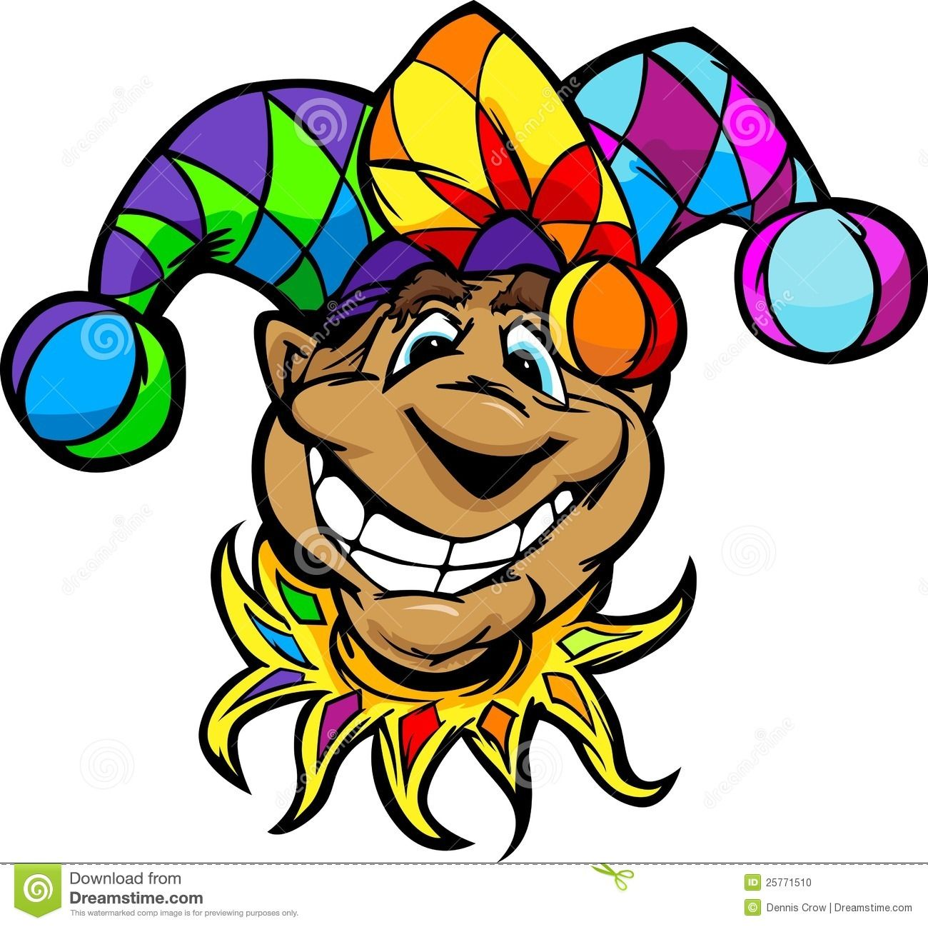 Silly court jester clipart clipart free download Happy Jester Or Joker Cartoon Illustratio - Download From ... clipart free download