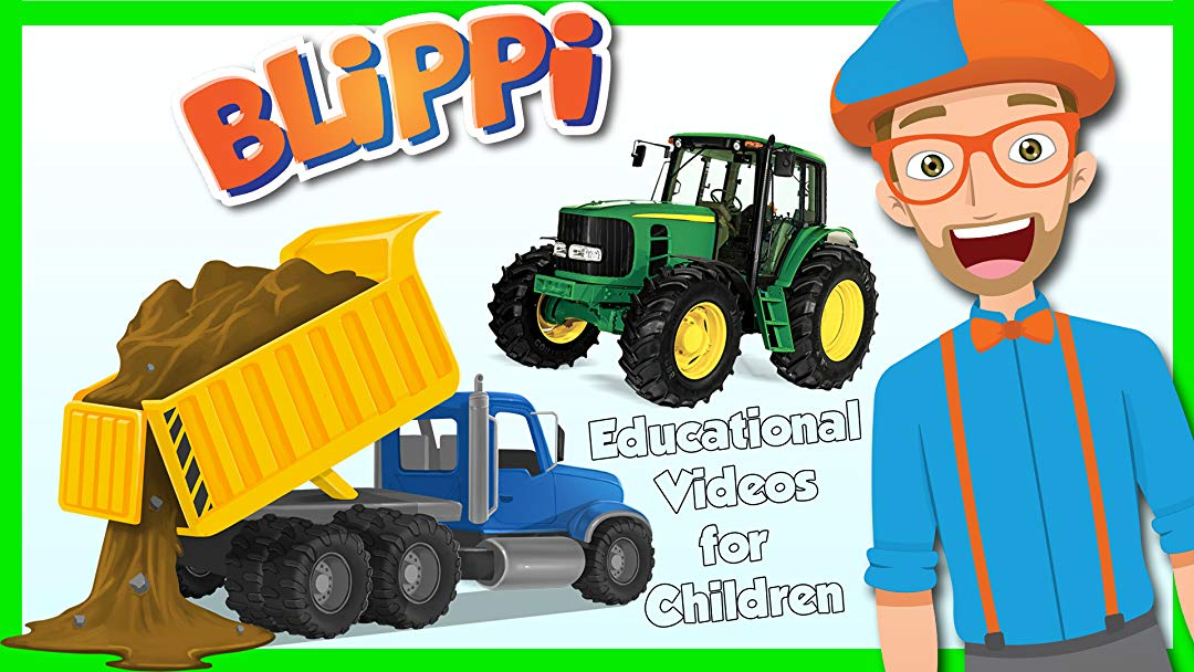 Sillybackhoe clipart vector black and white Amazon.com: Watch Blippi - Educational Videos for Children ... vector black and white