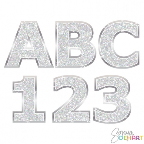 Number 1 glitter silver clipart vector stock Alphabet - Silver Glitter Clipart - 1 - 475*475 - Free ... vector stock