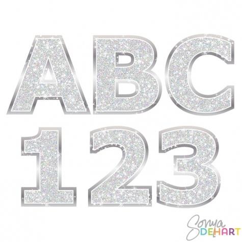 Alphabet - Silver Glitter Clipart - 1 - 475*475 - Free ... transparent download
