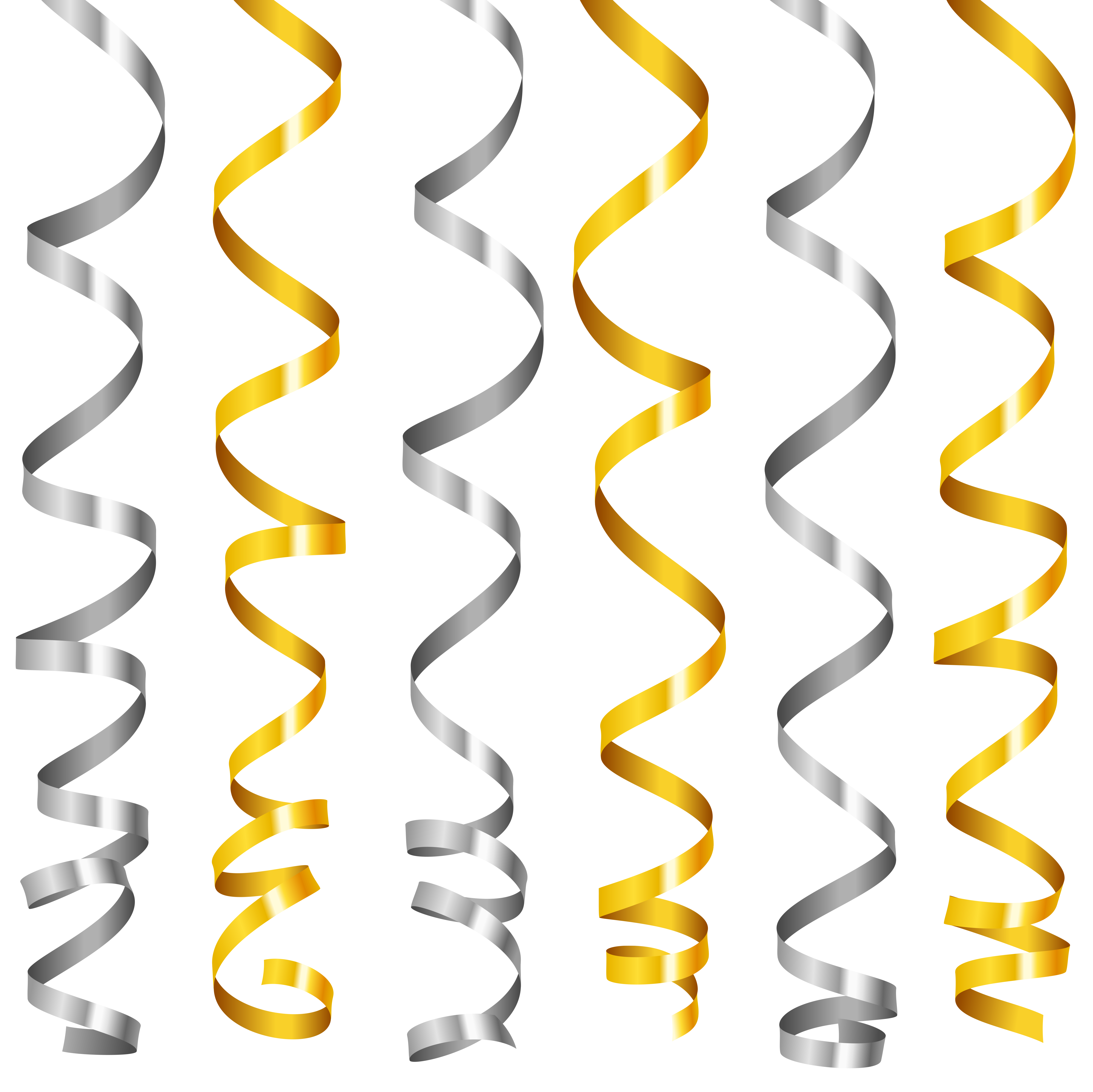 Silver and gold clipart clip royalty free download Silver and Gold Curly Ribbons PNG Clipart Image | Gallery ... clip royalty free download