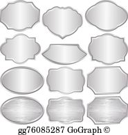 Silver award plate clipart clipart royalty free Silver Plaque Clip Art - Royalty Free - GoGraph clipart royalty free