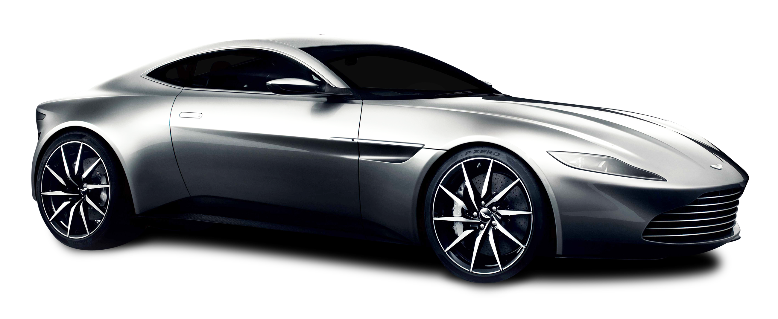 Silver car clipart svg black and white library Aston Martin DB10 Silver Car PNG Image - PurePNG | Free transparent ... svg black and white library
