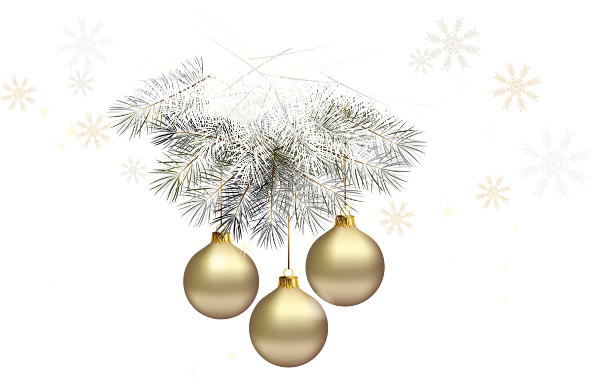 Silver christmas tree clipart banner transparent download Gold Transparent Christmas Balls with Silver Pine PNG Clipart ... banner transparent download