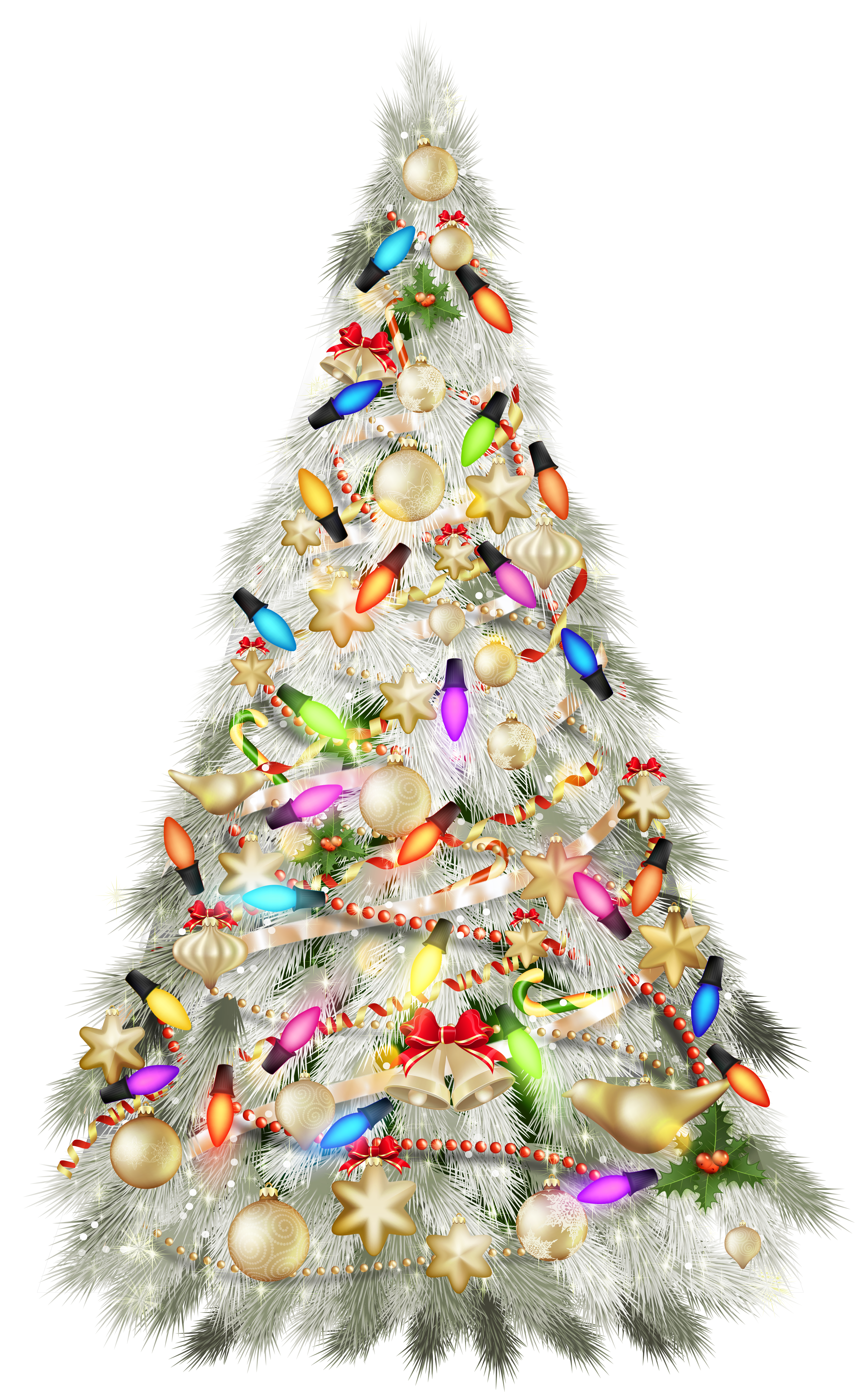 Silver christmas tree clipart svg free download Transparent Christmas Silver Deco Tree Clipart | Gallery ... svg free download