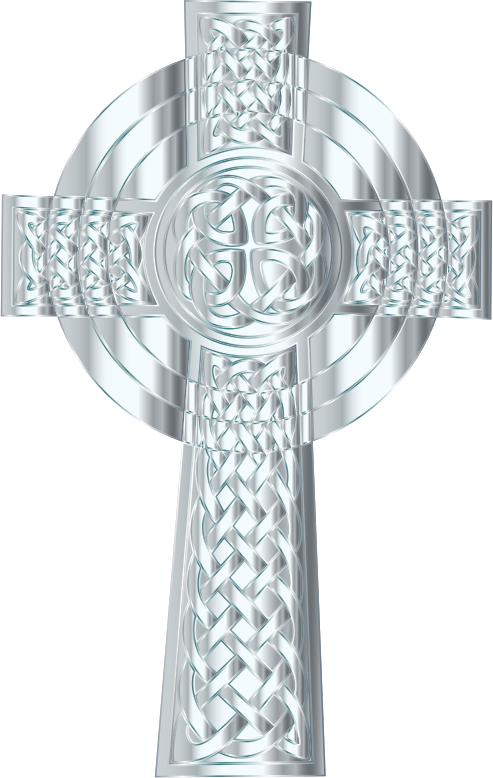 Silver cross clipart svg library stock Clipart - Silver Celtic Cross 3 svg library stock