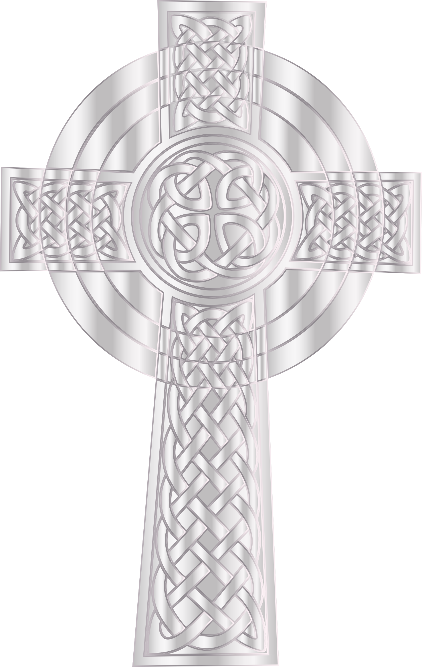 Silver cross clipart png image black and white download Clipart - Silver Celtic Cross 2 image black and white download