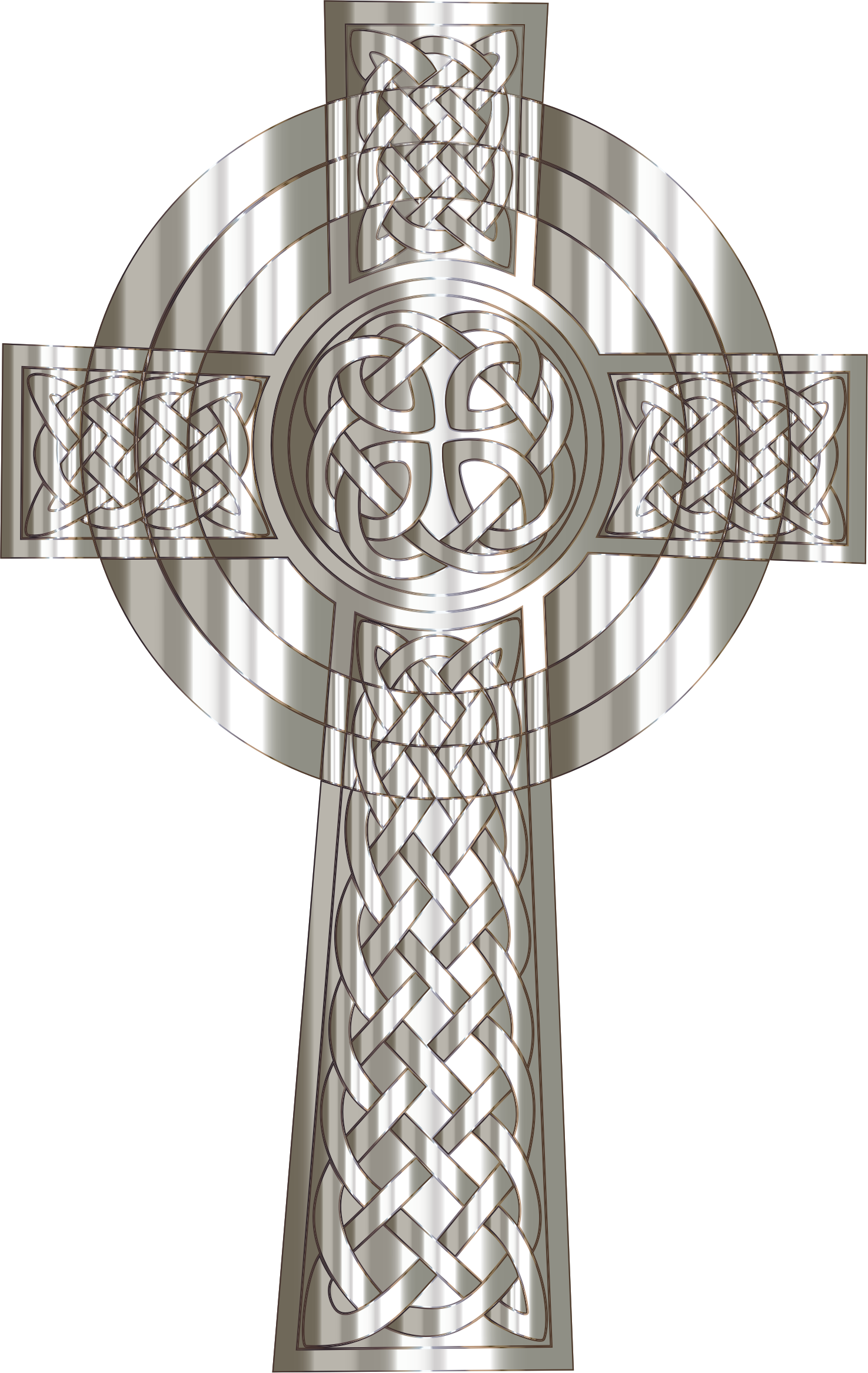 Silver cross clipart png picture royalty free Clipart - Silver Celtic Cross picture royalty free