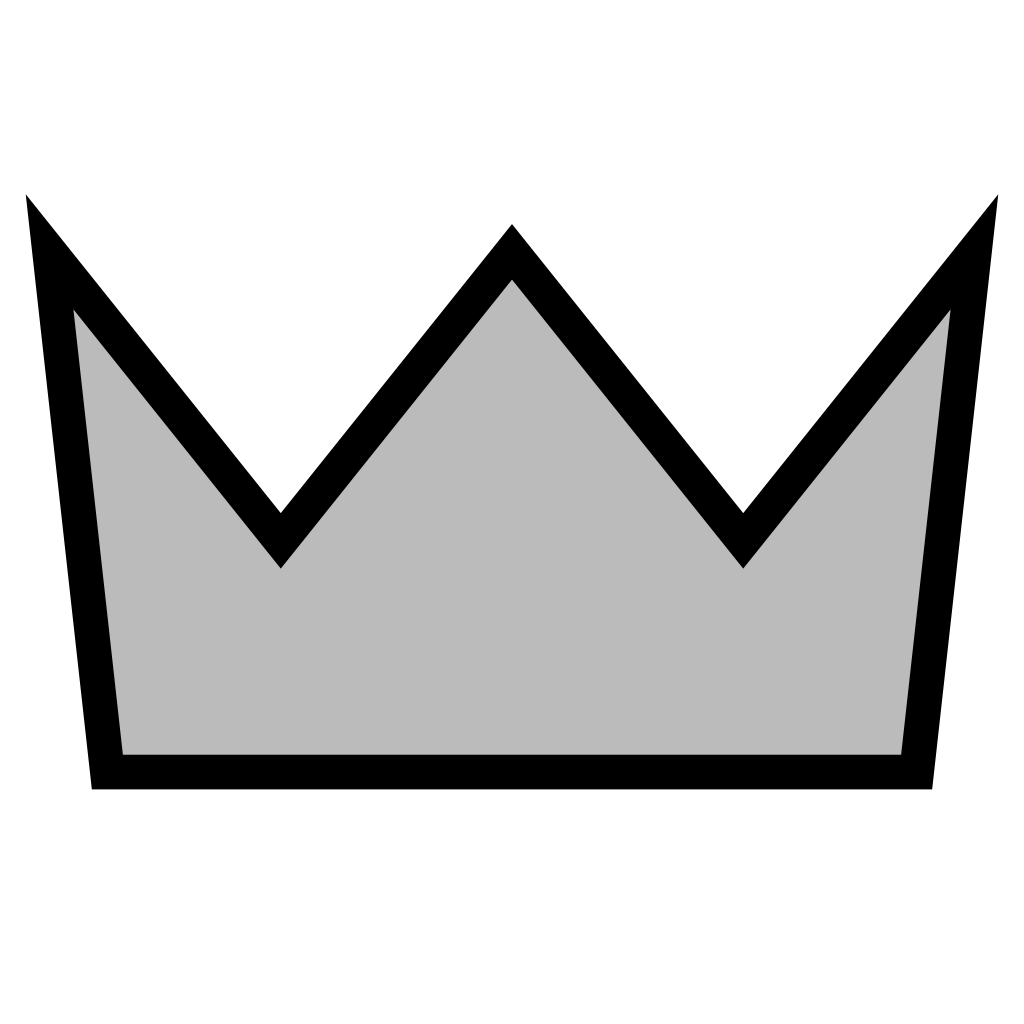 Silver crown free clipart picture black and white File:Simple silver crown.svg - Wikipedia picture black and white