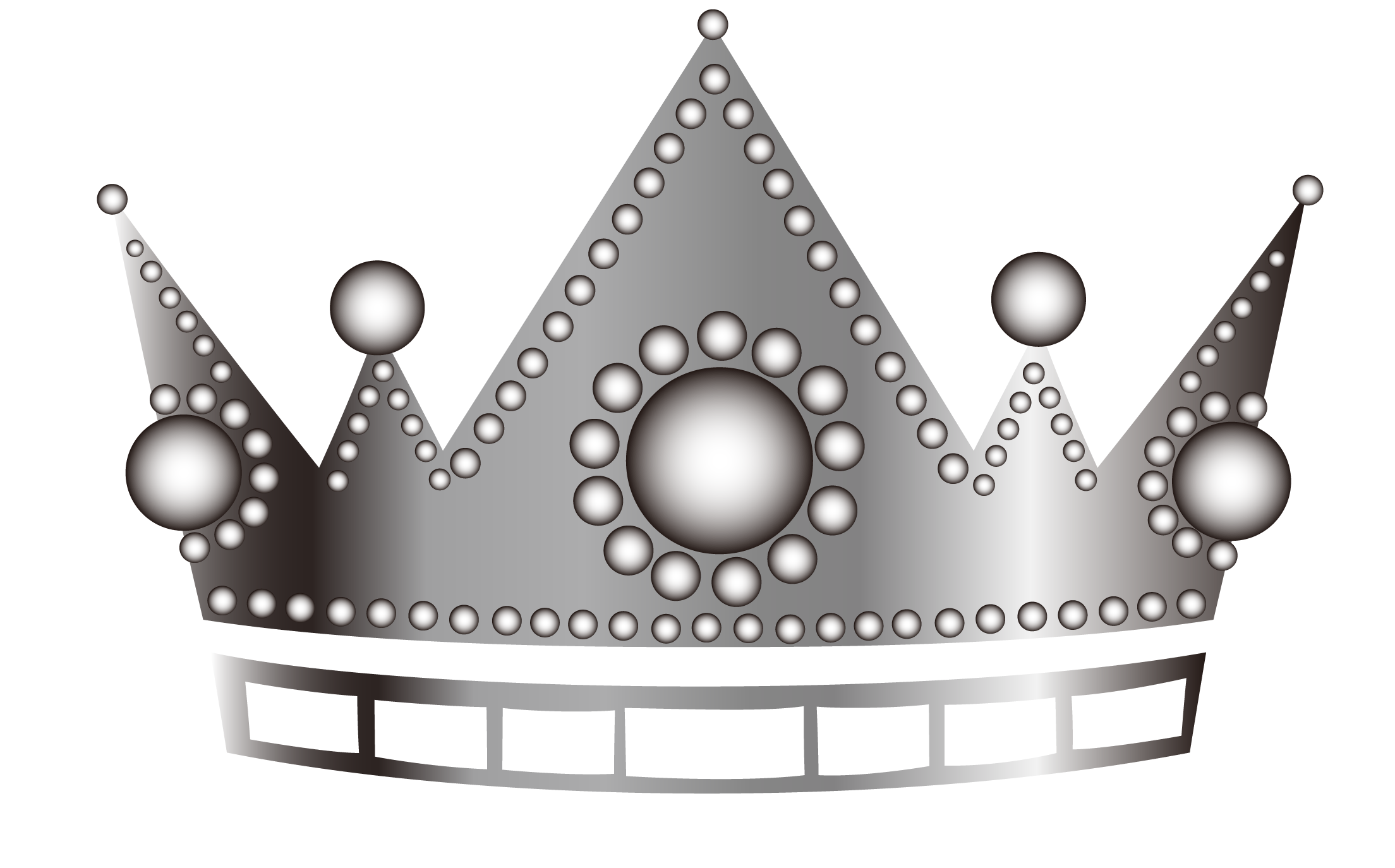 Silver crown free clipart picture transparent Black and white Pattern - Cartoon silver crown 2208*1374 transprent ... picture transparent