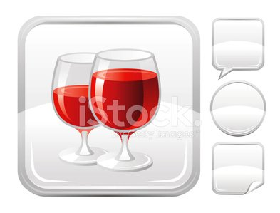 Silver drinking wine glass clipart graphic royalty free Red Wine Glasses Icon ON Silver Button premium clipart ... graphic royalty free