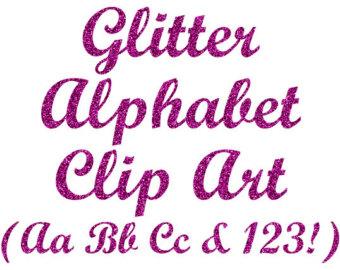 Silver glitter alphabet letter clipart png royalty free Glitter Silver Alphabet Clipart Digital Glitter Letters png royalty free