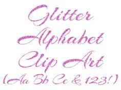Silver glitter alphabet letter clipart image free library Gold Glitter Alphabet Clipart, Digital Glitter Letters Clip Art ... image free library