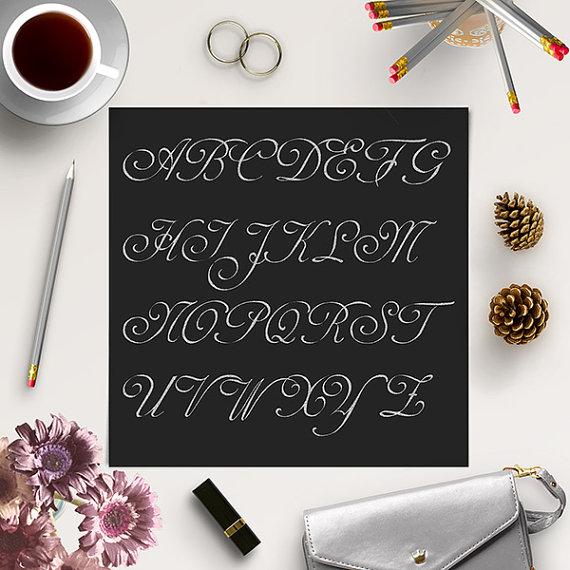 Silver glitter alphabet letter clipart image library Glitter Alphabet Clip Art / Silver Glitter Letters / Silver ... image library