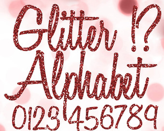 Silver glitter alphabet letter clipart graphic black and white library Digital Silver Alphabet Digital Clip Art Silver Glitter graphic black and white library