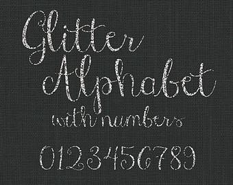 Silver glitter alphabet letter clipart jpg transparent download Glitter alphabet | Etsy jpg transparent download
