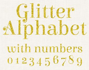 Silver glitter alphabet letter clipart graphic stock Gold Fancy Glitter Alphabet Glitter Numbers Glitter Clip graphic stock