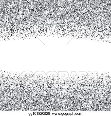 Silver glitter clipart picture free stock Vector Clipart - Silver glitter textured borders. Vector ... picture free stock