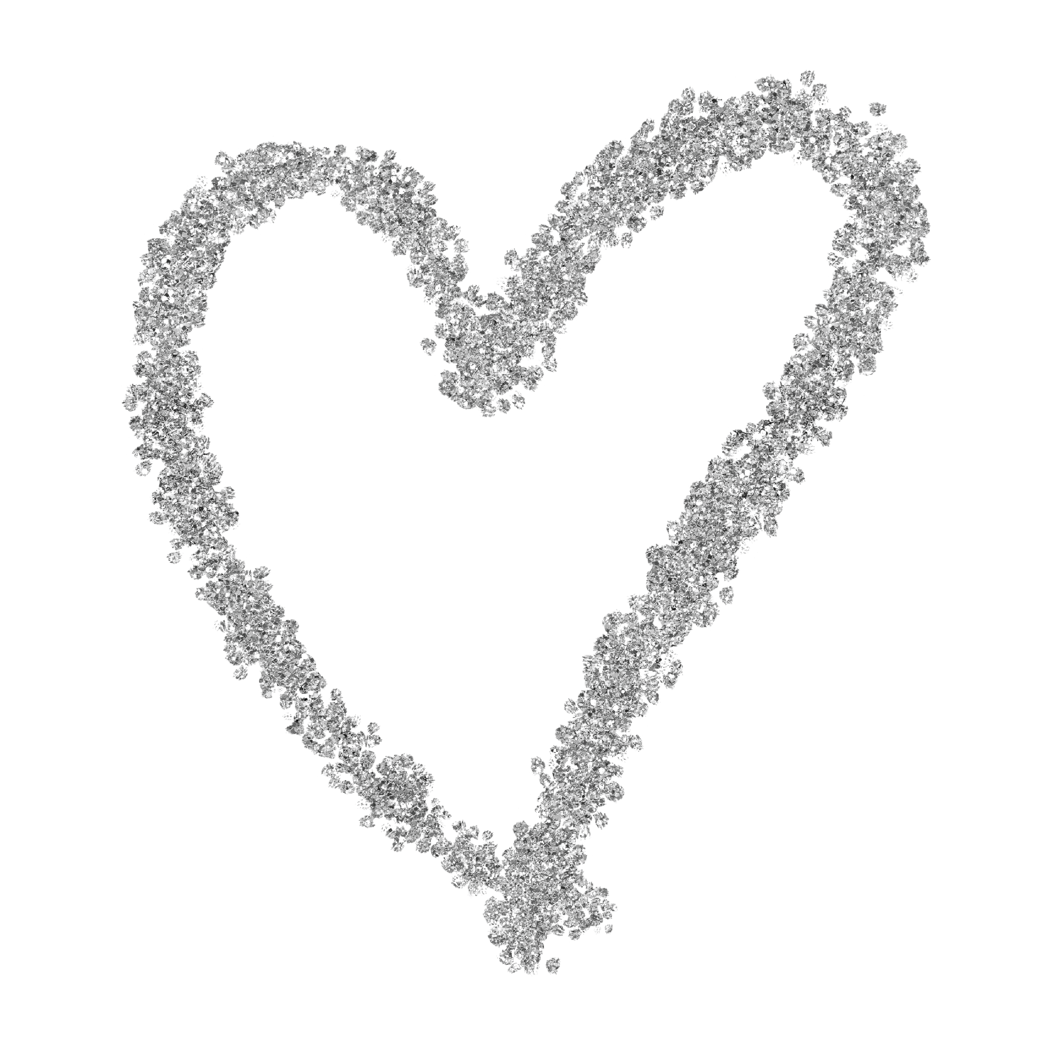 Silver glitter clipart image royalty free download Silver Glitter Heart Web Flair Graphic image royalty free download
