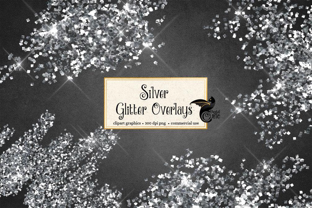 Silver glitter clipart clip art library Silver Glitter Overlays Clipart clip art library