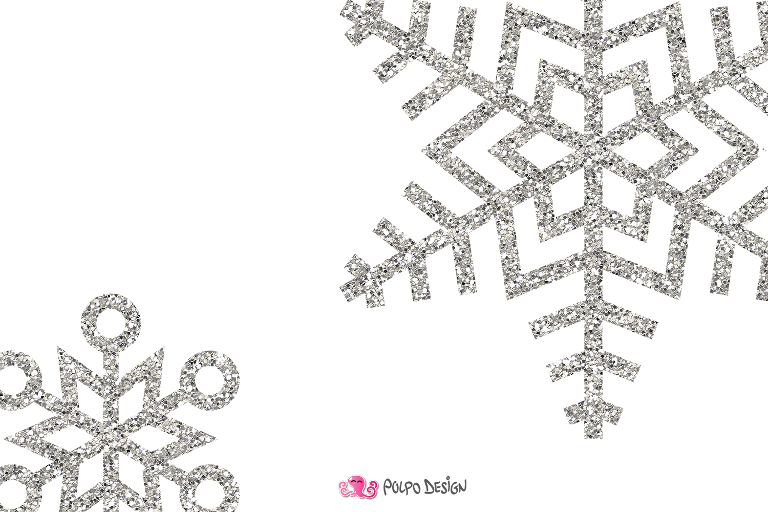 Silver glitter snowflake clipart svg freeuse stock Silver Glitter Snowflakes clipart svg freeuse stock