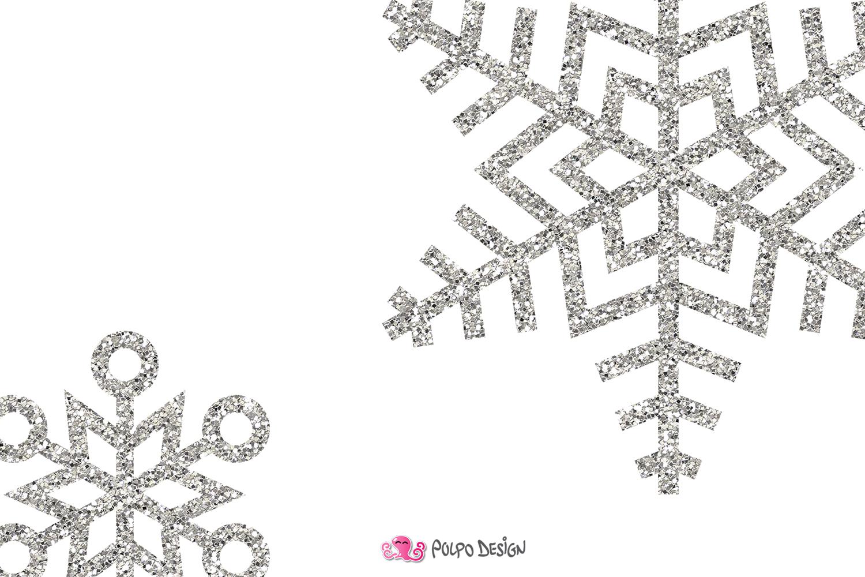 Silver glitter clipart image transparent Silver Glitter Snowflakes clipart image transparent