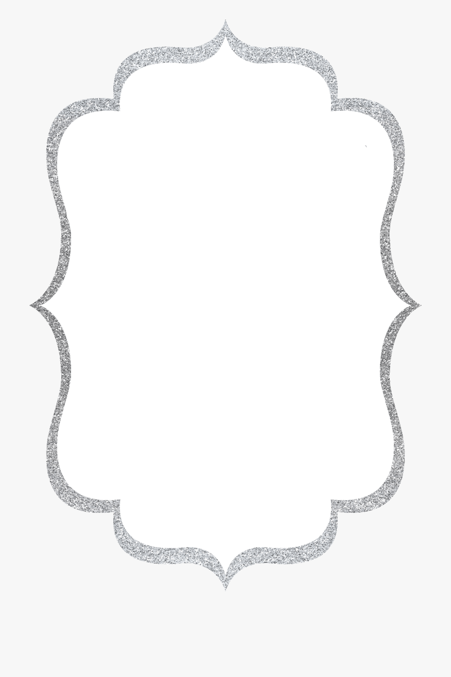 Silver glitter frame clipart vector black and white download Silver Glitter Border Clipart 3 By Alicia - Silver Glitter ... vector black and white download