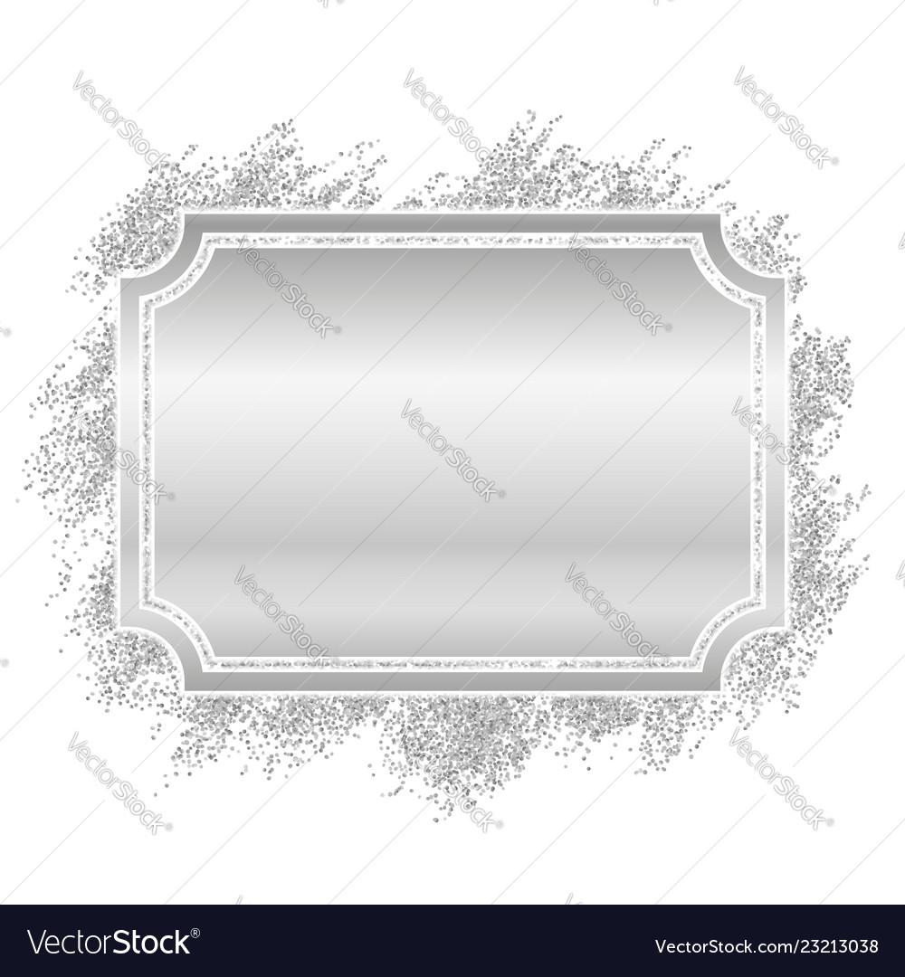 Silver glitter frame clipart transparent download Silver frame beautiful glitter design vintage transparent download