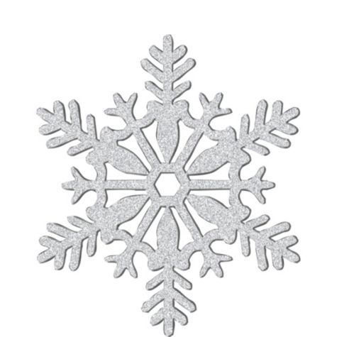Silver snowflakes clipart picture freeuse library Glitter Silver Snowflake 11in - Party City | MERRY CHRISTMAS ... picture freeuse library