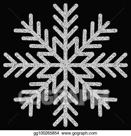 Silver glitter snowflake clipart image freeuse download Vector Stock - Snowflake. Clipart Illustration gg100265854 ... image freeuse download