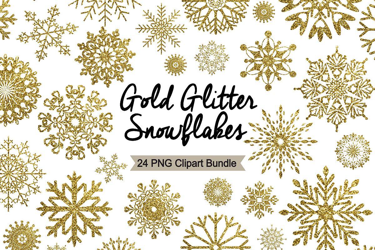 Silver glitter snowflake clipart clip art freeuse download Snowflake Clipart - Gold Glitter clip art freeuse download